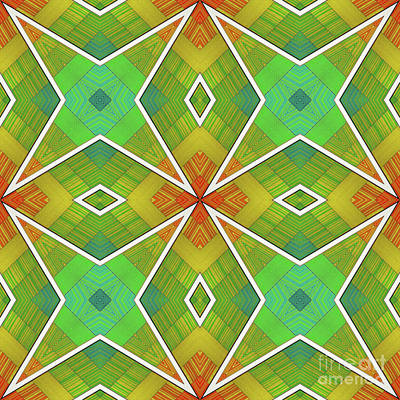 Digital Art - Modern Rainbow Colored Kaleidoscope 2 by Amy Cicconi