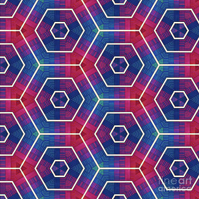 Digital Art - Modern Rainbow Colored Kaleidoscope 4 by Amy Cicconi