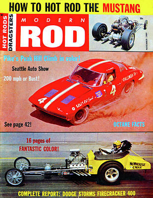 Photograph - Modern Rod Mag 1964 by David Lee Thompson