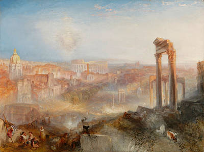 Architectural Painting - Modern Rome, Campo Vaccino by JMW Turner