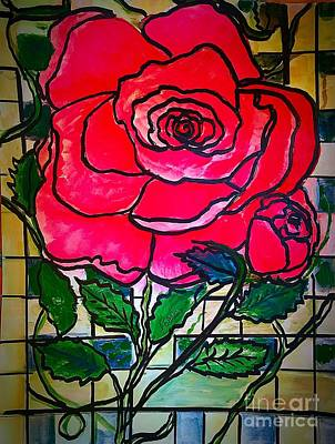 Painting - Modern Rose by Anne Sands