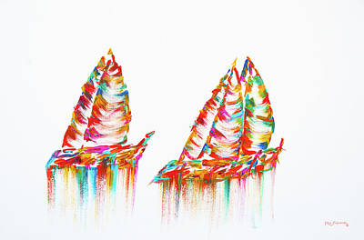 Painting - Modern Sailboats Painting by Ken Figurski