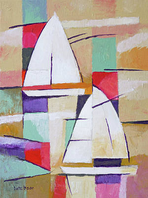 Painting - Modern Sailboats Painting by Lutz Baar