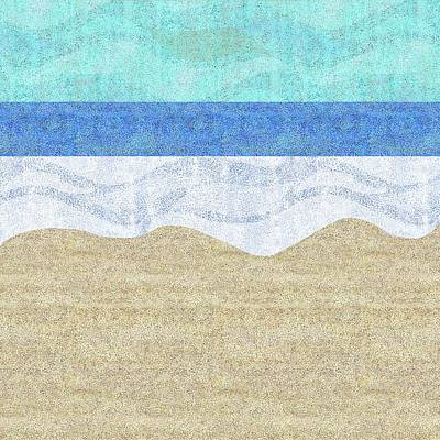 Digital Art - Modern Sandy Beach by Karen Dyson