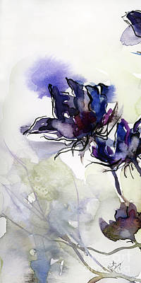 Painting - Modern Seeds Pods 1 Watercolor And Ink by Ginette Callaway