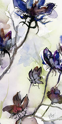 Painting - Modern Seeds Pods 2 Watercolor And Ink by Ginette Callaway