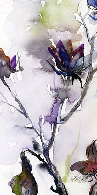 Painting - Modern Seeds Pods 3 Watercolor And Ink by Ginette Callaway