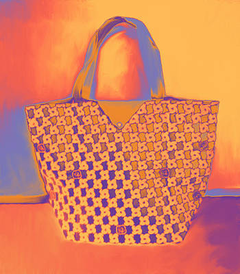 Modern Shopping Bag Art Print