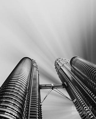 Photograph - Modern Skyscraper Black And White  by Stefano Senise