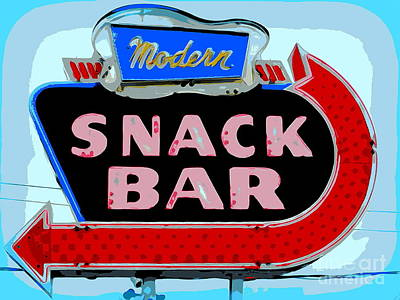 Photograph - Modern Snack Bar #1 by Ed Weidman