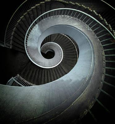 Photograph - Modern Spiral Stairs by Jaroslaw Blaminsky