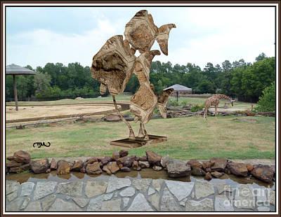 Modern Statue Of Pisces 9 Original