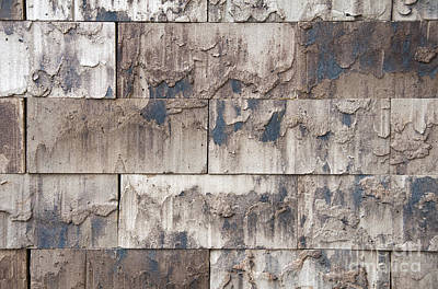 Train Photography - Modern Stones Wall by Compuinfoto
