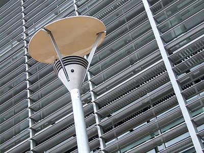 Photograph -  Modern Street Lamp by Helen Northcott