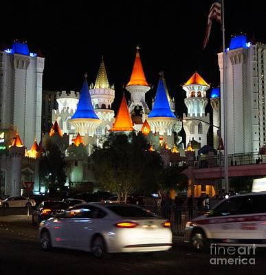 Casino Photograph - Modern Tale From Las Vegas, Excalibur by Timea Mazug