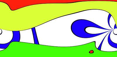 Abstract Seascape Mixed Media - Modern Talk - A Question About New York by Sir Josef - Social Critic -  Maha Art