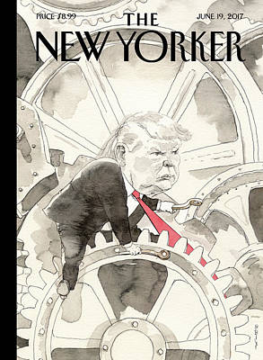 President Drawing - Modern Times by Barry Blitt