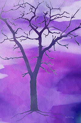 Scenic Montana Mixed Media - Modern Tree Art 2 by Ken Figurski