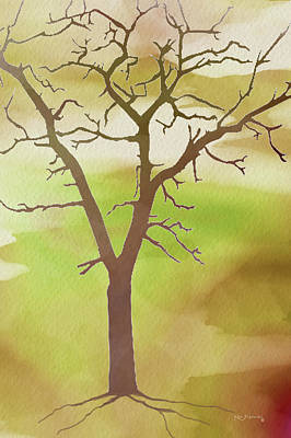 Scenic Montana Mixed Media - Modern Tree Art by Ken Figurski