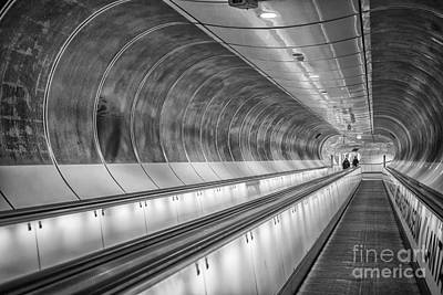 Photograph - Modern Tunnel Underground Subway Rotterdam by Patricia Hofmeester
