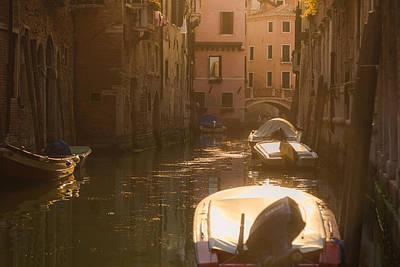 Canal Photograph - Modern Venetian Boating by Chris Fletcher