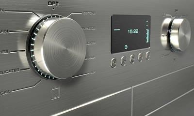 Washing Machine Digital Art - Modern Washing Machine Closeups by Allan Swart