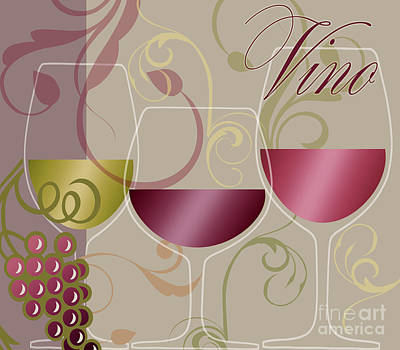 Modern Wine I Print by Mindy Sommers