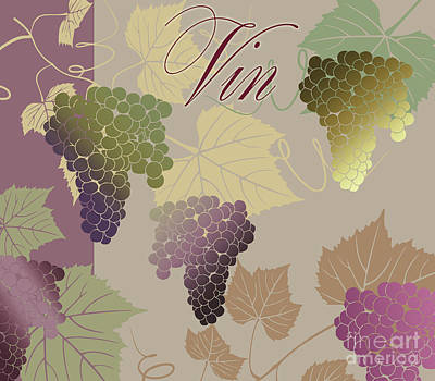 Grape Leaf Painting - Modern Wine Iv by Mindy Sommers
