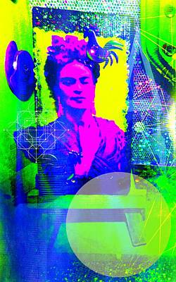 Las Vegas Artist Mixed Media - Modern Woman by Michelle Dallocchio