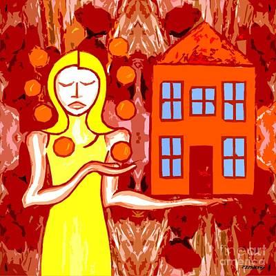 Mums Painting - Modern Woman by Patrick J Murphy