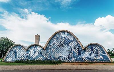 Modernist Church Of Sao Francisco De Assis In Belo Horizonte, Brazil Art Print