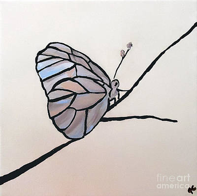 Mother Of Pearl Painting - Modest Elegance by Jilian Cramb - AMothersFineArt