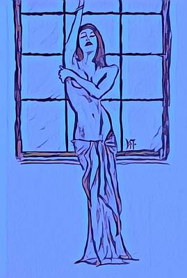 Topless Mixed Media - Modesty by DST Fine Art