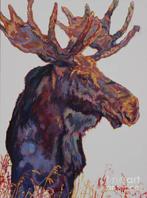Moose Painting - Modifier by Patricia A Griffin