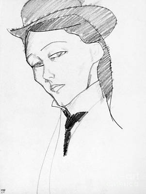 Drawing - Modigliani Woman - To License For Professional Use Visit Granger.com by Granger