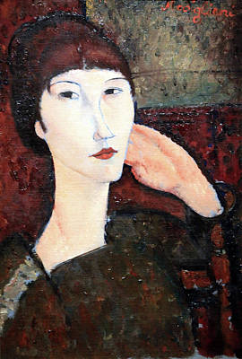 Amadeo Modigliani Photograph - Modigliani's Adrienne -- Woman With Bangs by Cora Wandel