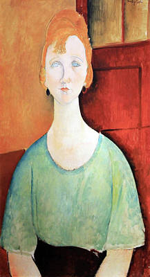 Amadeo Modigliani Photograph - Modigliani's Girl In A Green Blouse by Cora Wandel