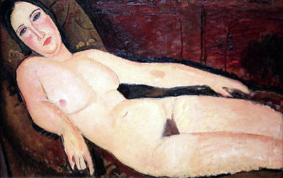 Amadeo Modigliani Photograph - Modigliani's Nude On A Divan by Cora Wandel