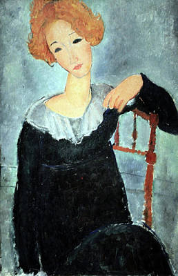 Amadeo Modigliani Photograph - Modigliani's Woman With Red Hair by Cora Wandel