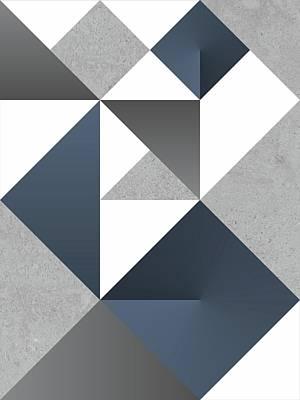 Modular Origami Blue Art Print by Daniel Perfeito