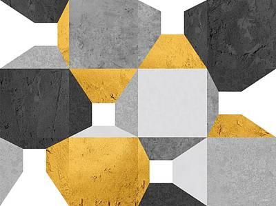Modern Drawing - Modular Promenade Gold by Daniel Perfeito