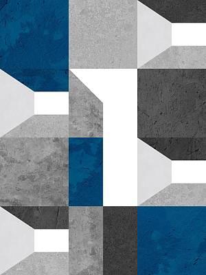 Modular Shed Blue Art Print by Daniel Perfeito