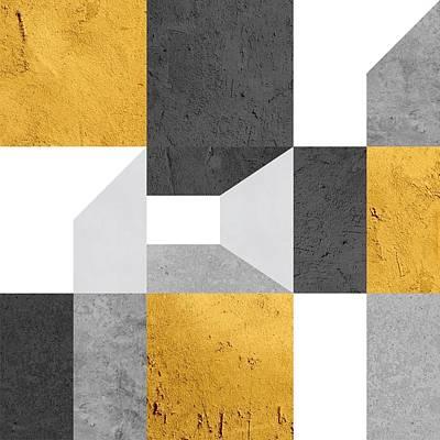 Modular Shed Gold Art Print by Daniel Perfeito