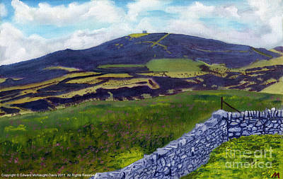 Cloudy Day Painting - Moel Famau Hill Painting by Edward McNaught-Davis