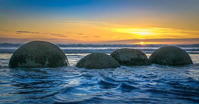 Photograph - Moeraki Sunrise by Martin Capek