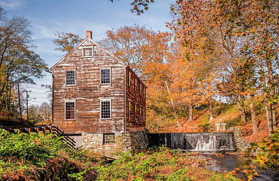 Photograph - Moffett Mill In Autumn, Lincoln, Ri by Betty Denise
