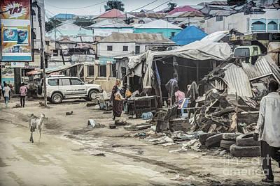 Mogadishu Markets Art Print by Lemmi Pfeiffer