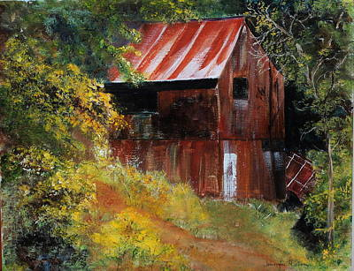 Rural Decay Painting - Mogollon Mansion by Jennifer Hillman