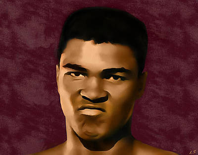 Cassius Clay Painting -  Mohamed Ali by Sergey Lukashin
