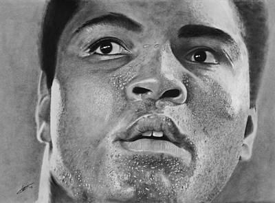Mohammad Drawing - Mohammad Ali by Robert Bateman